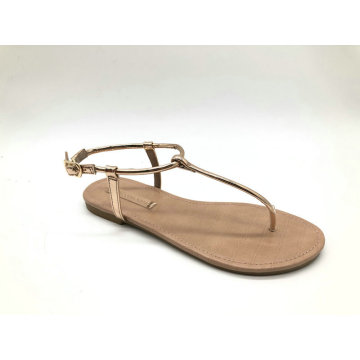 women sandal with T-BAR upper