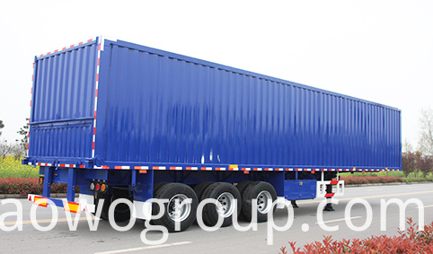 van box semi trailer