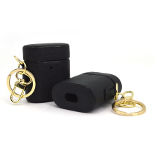 Black Shockproof Leather Protective Case for Airpods