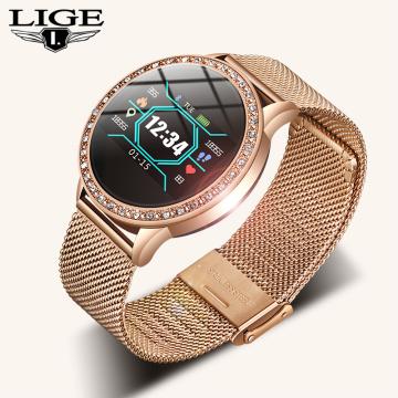 LIGE New Smart Watch Women Blood Pressure Heart Rate Monitor Smart Band Fitness tracker Sport watch Smartwatch Reloj inteligente