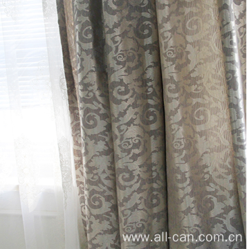 USA style cheap polyester jacquard curtain