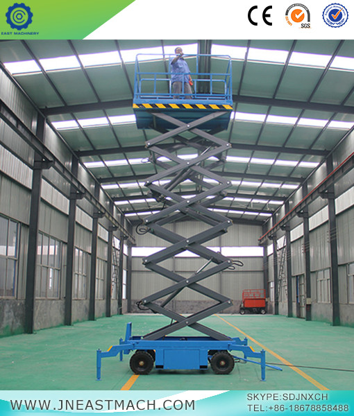 Manual Hydraulic Mobile Scissor Lift