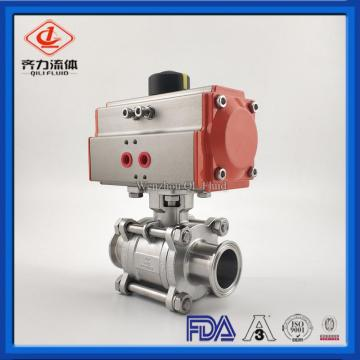 Sanitray Tri clamp connection pneumatic ball valve