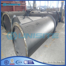 Y exhaust pipe with flange