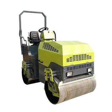 Ride on hydraulic double steel wheel road roller