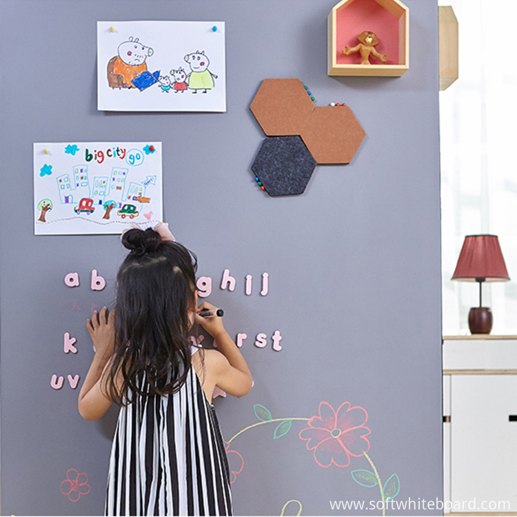 Gray Peel And Stick Whiteboards For Bedrooms Wall
