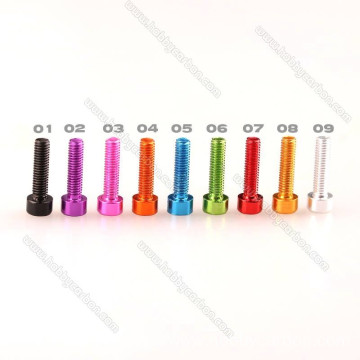 M3 Anodized Any Color socket Hex Aluminum Screws