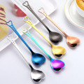 Cheap Price Stainless Steel Heart Shaped Dessert Spoon