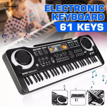 61 Keys Electric Piano Digital Electronic Piano 61 Keyboard with Organ Microphone Set Musical Instrument Children's Gifts