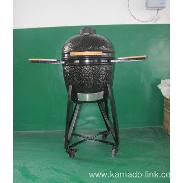 22inch ceramic bbq grill black iron cart