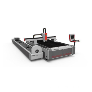 Fiber laser cutting metal plate tube machine
