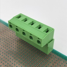 5 poles 7.62 pitch straight pluggable terminal block