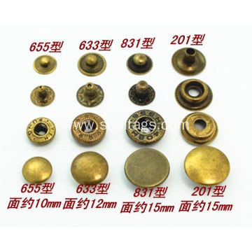 Metal brass snap button