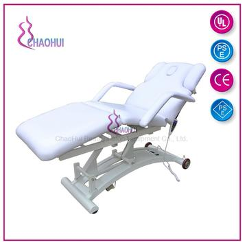 Adjustable electric facial bed