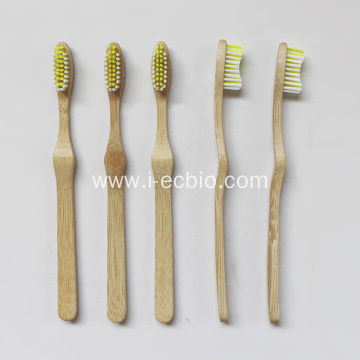 Bamboo Toothbrush with Curved Design