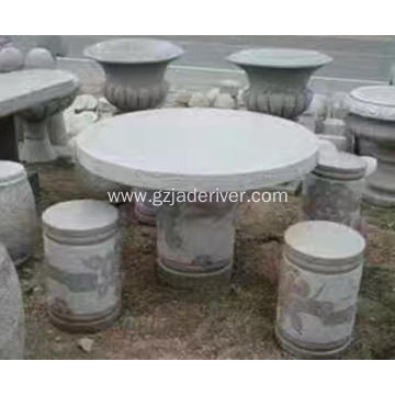 Popular Natural Granite Stone Table and Stool Custom