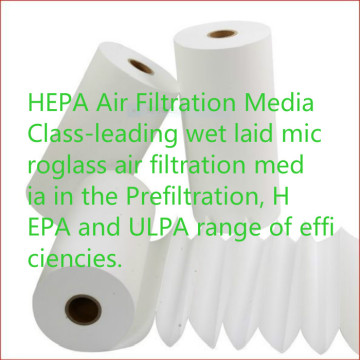 HEPA and ULPA air filtration media