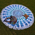 59inches diameter round beach towel with tassel