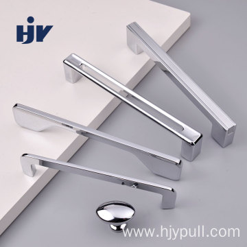 Chrome Silver Modern Hardware Handle And Knob