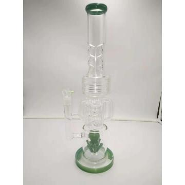 Popular Glass Bongs with Bullet Perc Triple Chamber