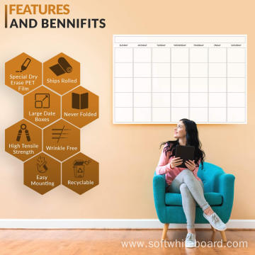 Family Dry Erase Multi Month Stick Wall Calendar