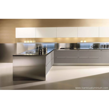 Aluminum kitchen cabinets with high heat resistance