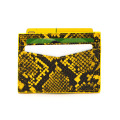 Genuine Python Skin Leather Business Credit Card Holder
