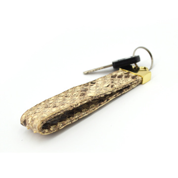 Custom Logo Promotional Metal Python Leather Key Chain