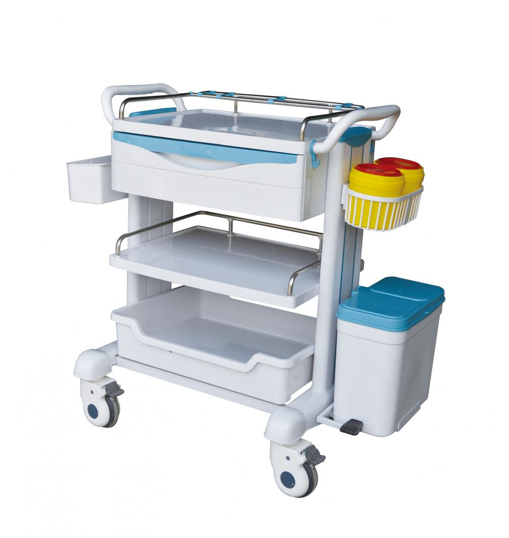 Streamline design medical emergency treatment trolley