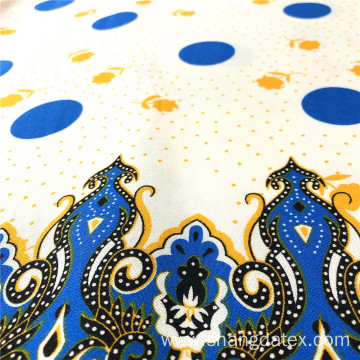 Exotic Design Rayon Twill Printed High Quality Fabric