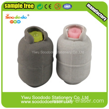 Gray Liquefied Petroleum Gas stationery sets,Eraser gifts for school