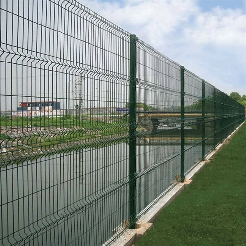 welded curved wire fence panels