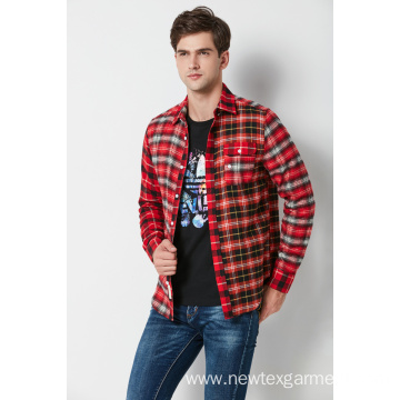 Mens Yarn Dyed Check Flanel Shirt