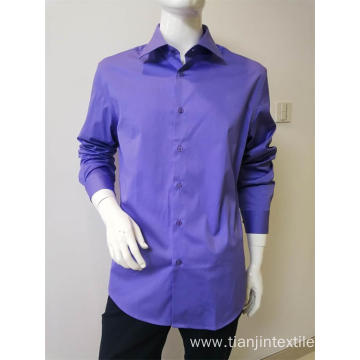 97%cotton3%spandex men's solid color long sleeve shirt