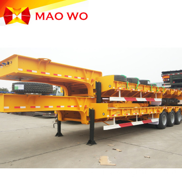 Heavy Equipment 3 Axle 80 Ton Lowbed Trailer