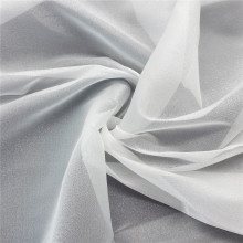 White Snow Organza Tulle Fabric for Wedding Dress
