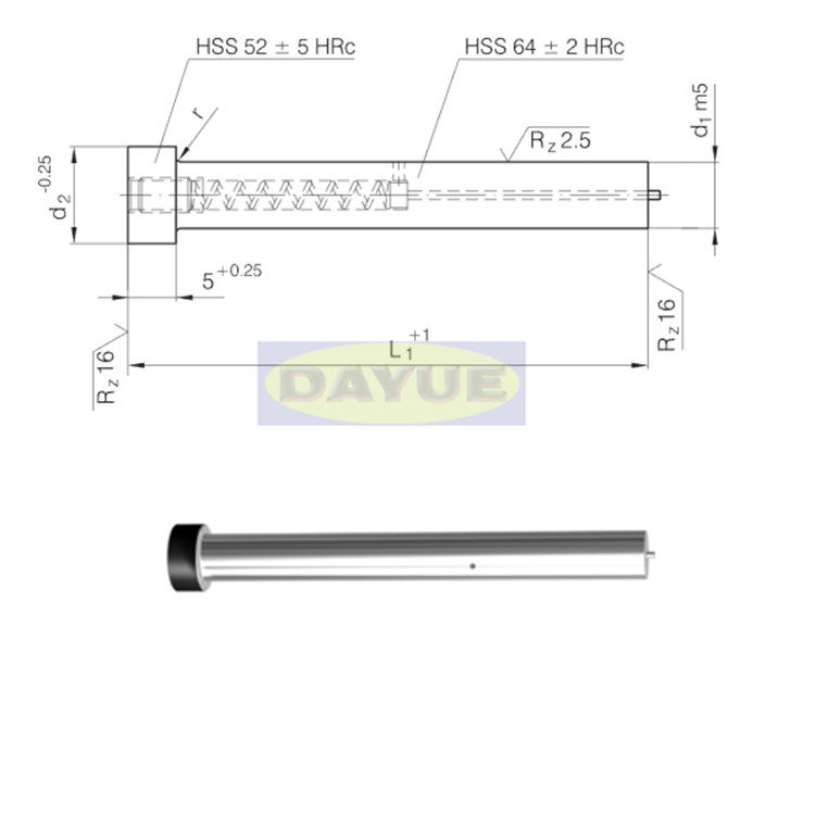 Punch with ejector pin similar to ISO 8020 manufacturers suppliers in China