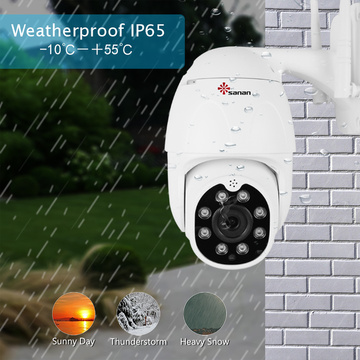Outdoor 4X Zoom PTZ Camera 1080P Dome Camera