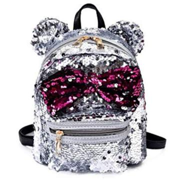 EARS BOWKNOT SEQUIN BACKPACK-0