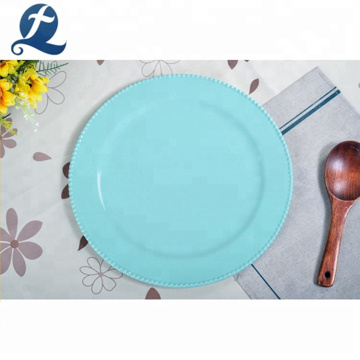 Restaurant round dinner tableware custom ceramic dining plates