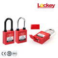 Safety Lockout Steel Shackle Nylon Dustproof Padlock