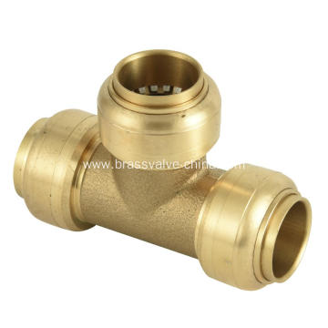 Brass quick connect push-fit fittings