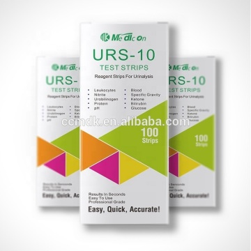 Hot Sale 10 parameter Urinalysis Reagent Test Paper