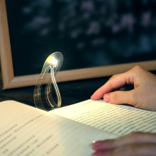 Mini Book Light Ultra Bright Bookmark Night Lamp Flexible LED Book Reading Light Bedroom AI88