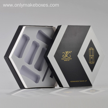 Handle Hexagon Shape Boxes For Make Up