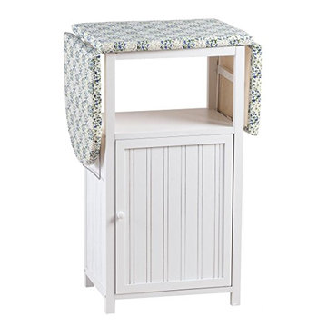 wooden folding ironing board cabinet with cloth storage shelf and door KD