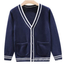 OEM custom v-neck school uniform cardigan sweaters