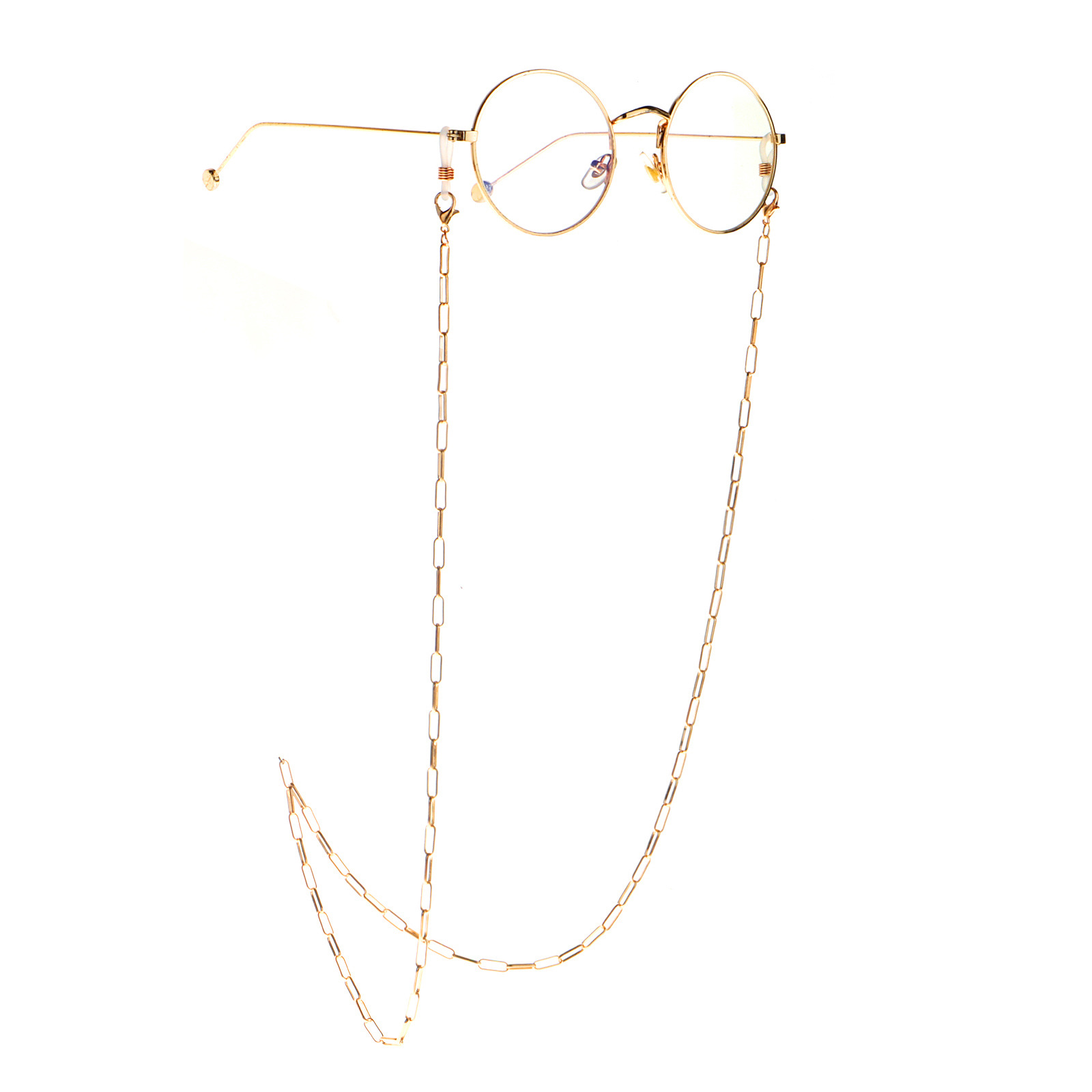 2020 Hot Sale Fashion Minimalist Gold Color Anti-Fade Golden sunglasses chain Rope Metal Punk Hip Hop lanyards glasses holder