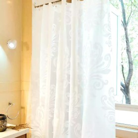 Shower Curtain PEVA White Flower Design
