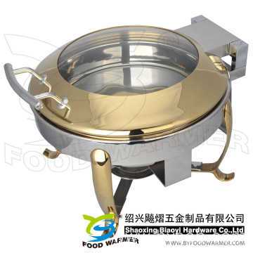 Golden Mini Hook Feet Electric Heating Chafing Dish